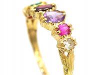Regency 15ct Gold, Ring set with Gem Stones That Spell Regard