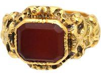 Victorian 18ct Gold & Carnelian Signet Ring