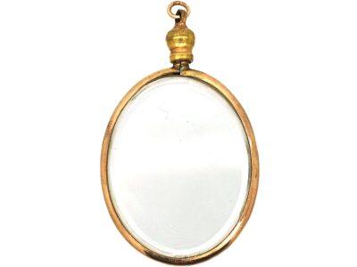 Edwardian 9ct Gold, Oval Glazed Locket