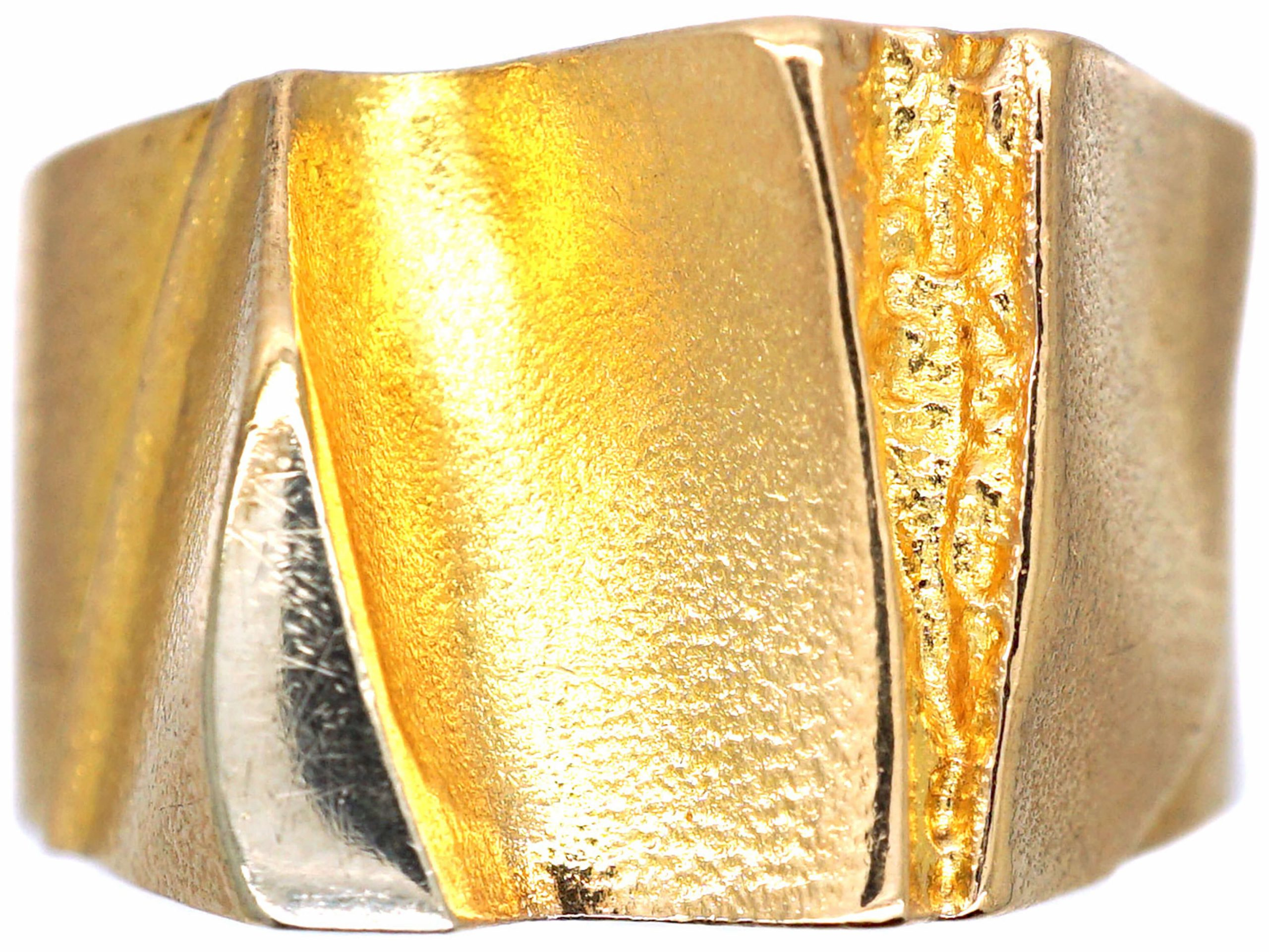 14ct Yellow & White Gold Ring by Björn Weckström for Lapponia