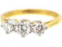 18ct Gold, Three Stone Diamond Ring