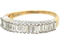18ct Gold, Baguette Diamond Half Eternity Ring