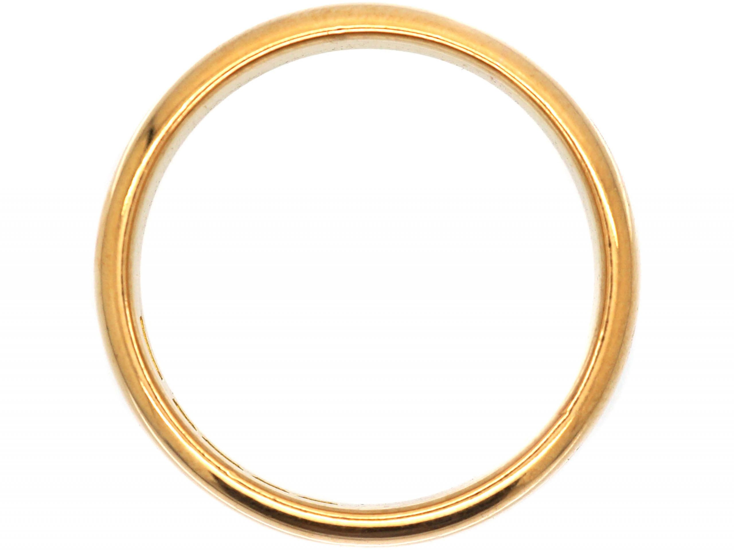 22ct Gold Wide Wedding Ring Assayed in 1925