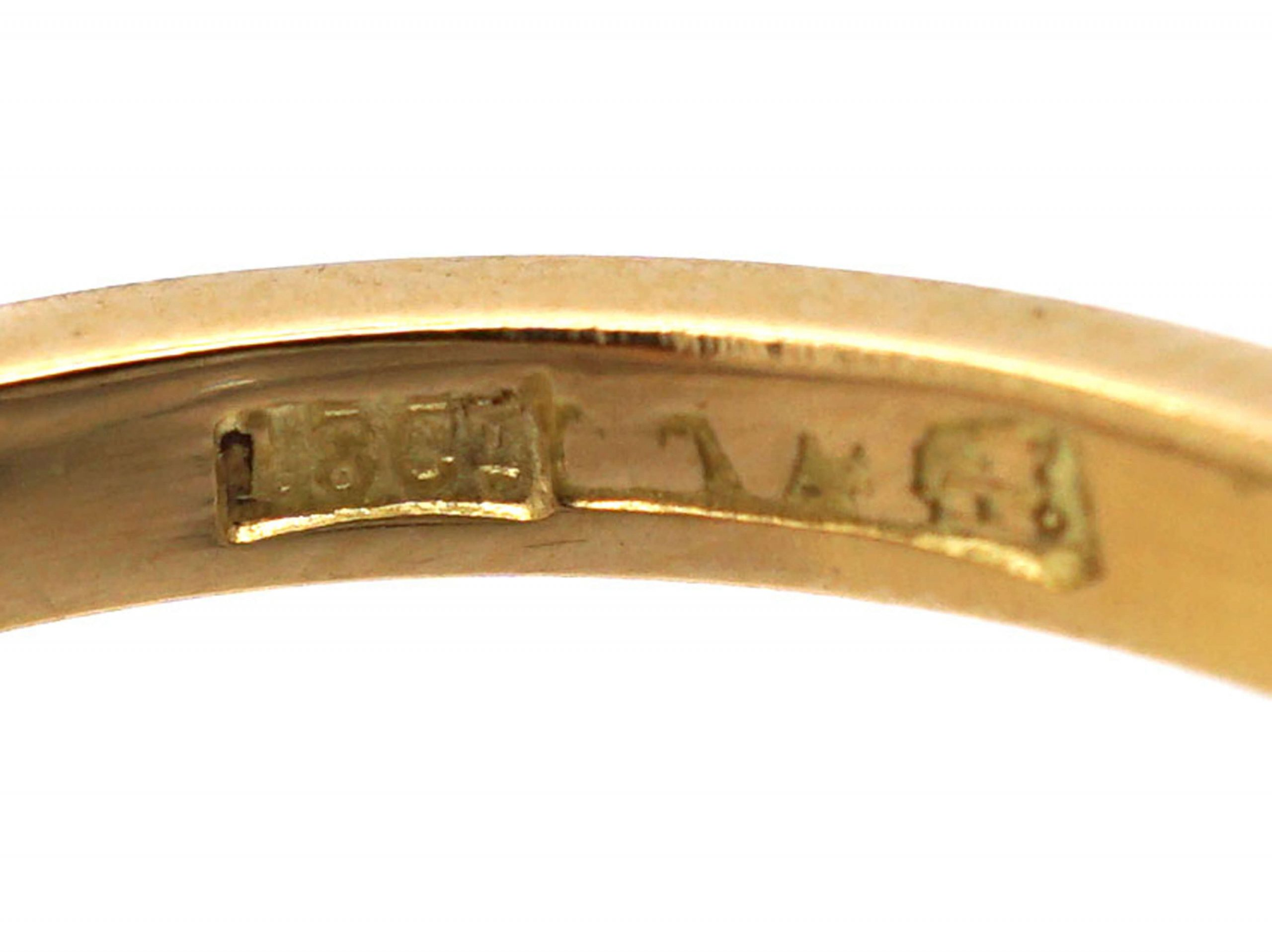 18ct Gold & Platinum, Sapphire & Diamond Three Stone Ring