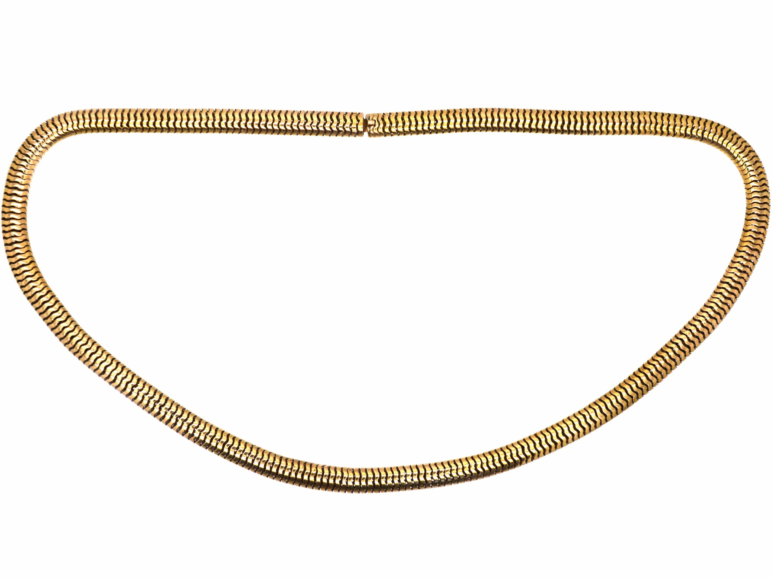 Victorian 15ct Gold Snake Chain