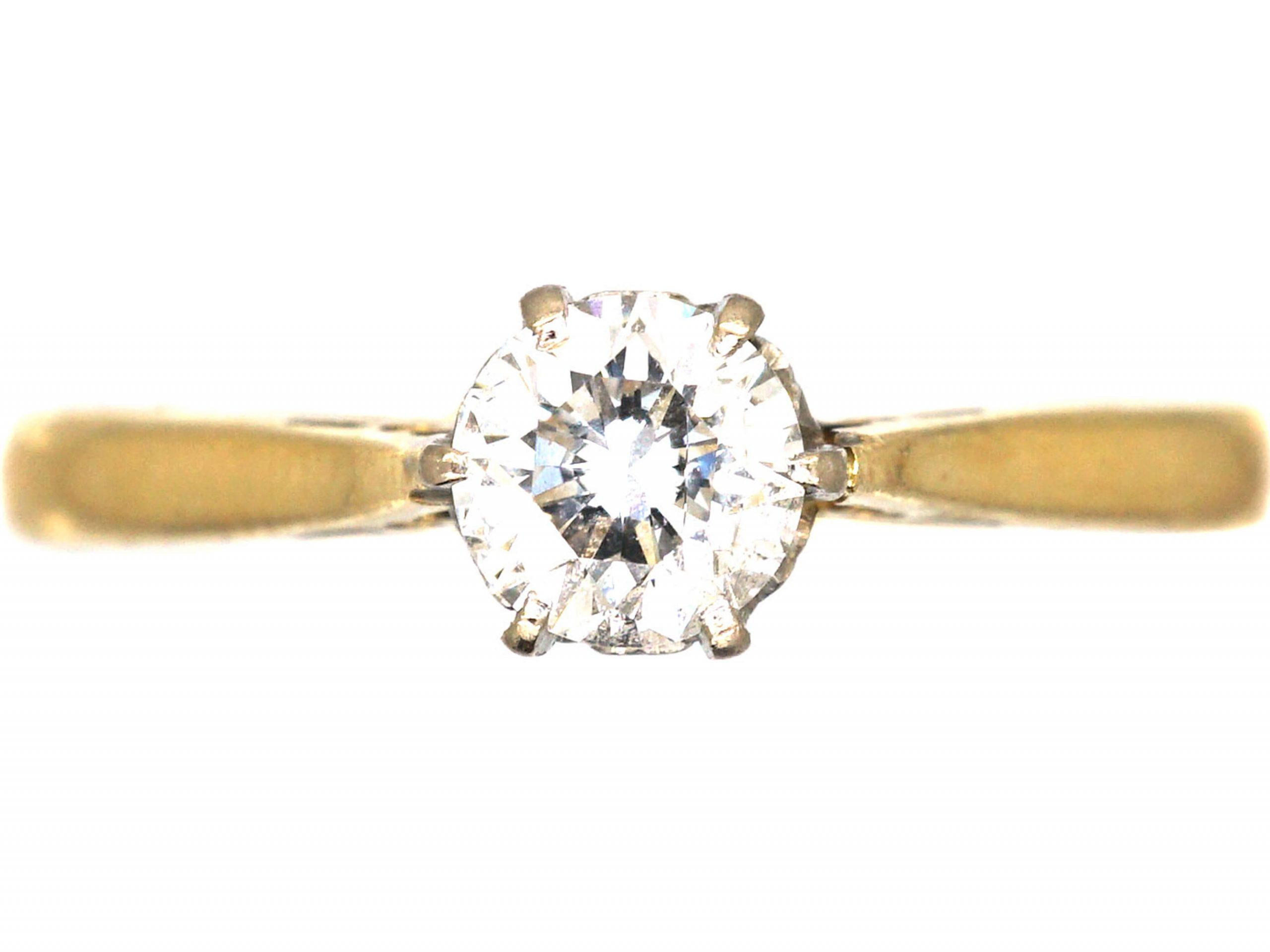18ct Gold, Diamond Solitaire Ring