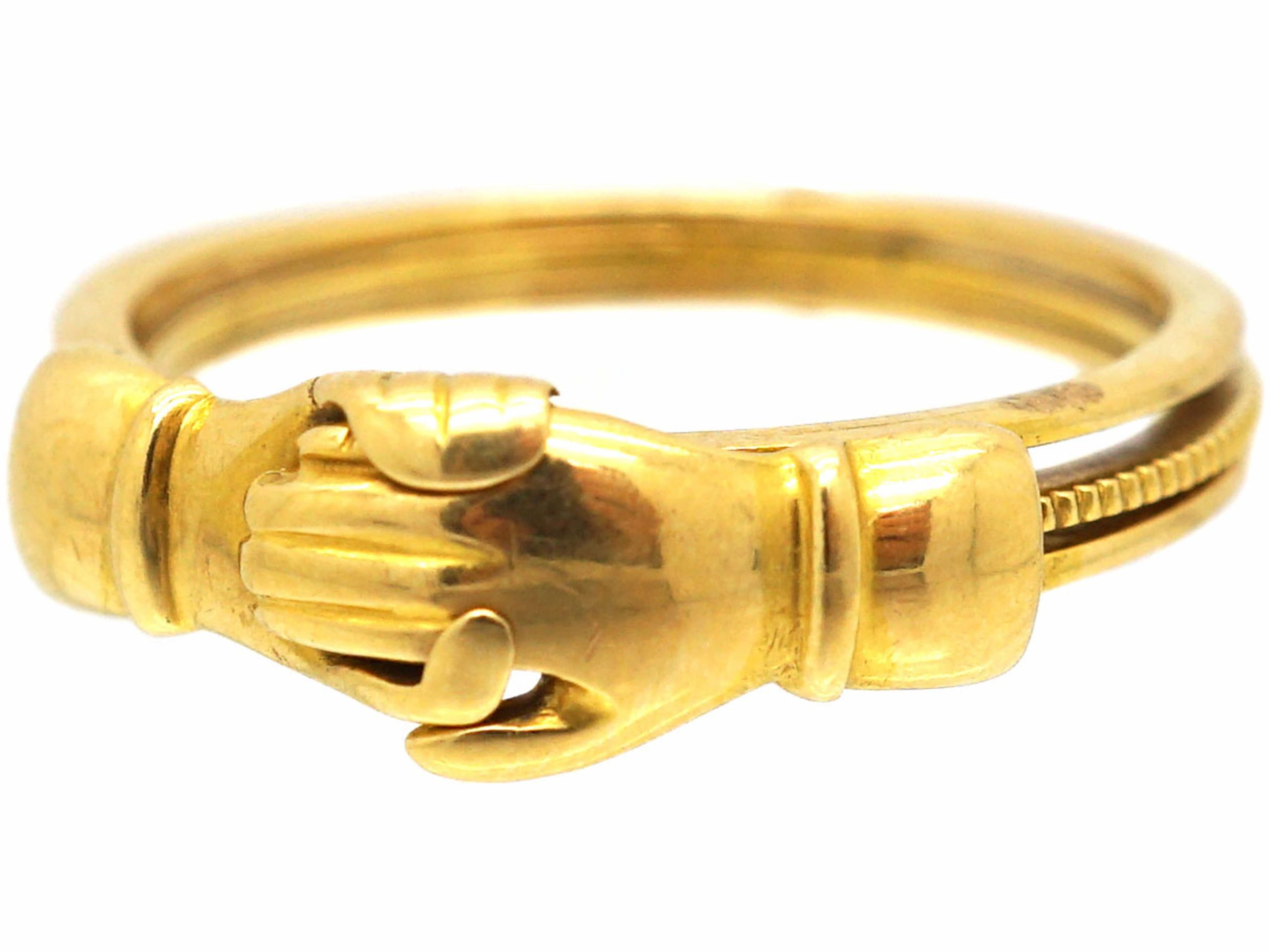 Victorian 18ct Gold Fede Ring