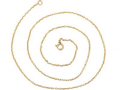 Art Deco 9ct Gold Narrow box Link Chain