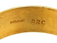 22ct Gold Wedding Ring with Celtic Motif