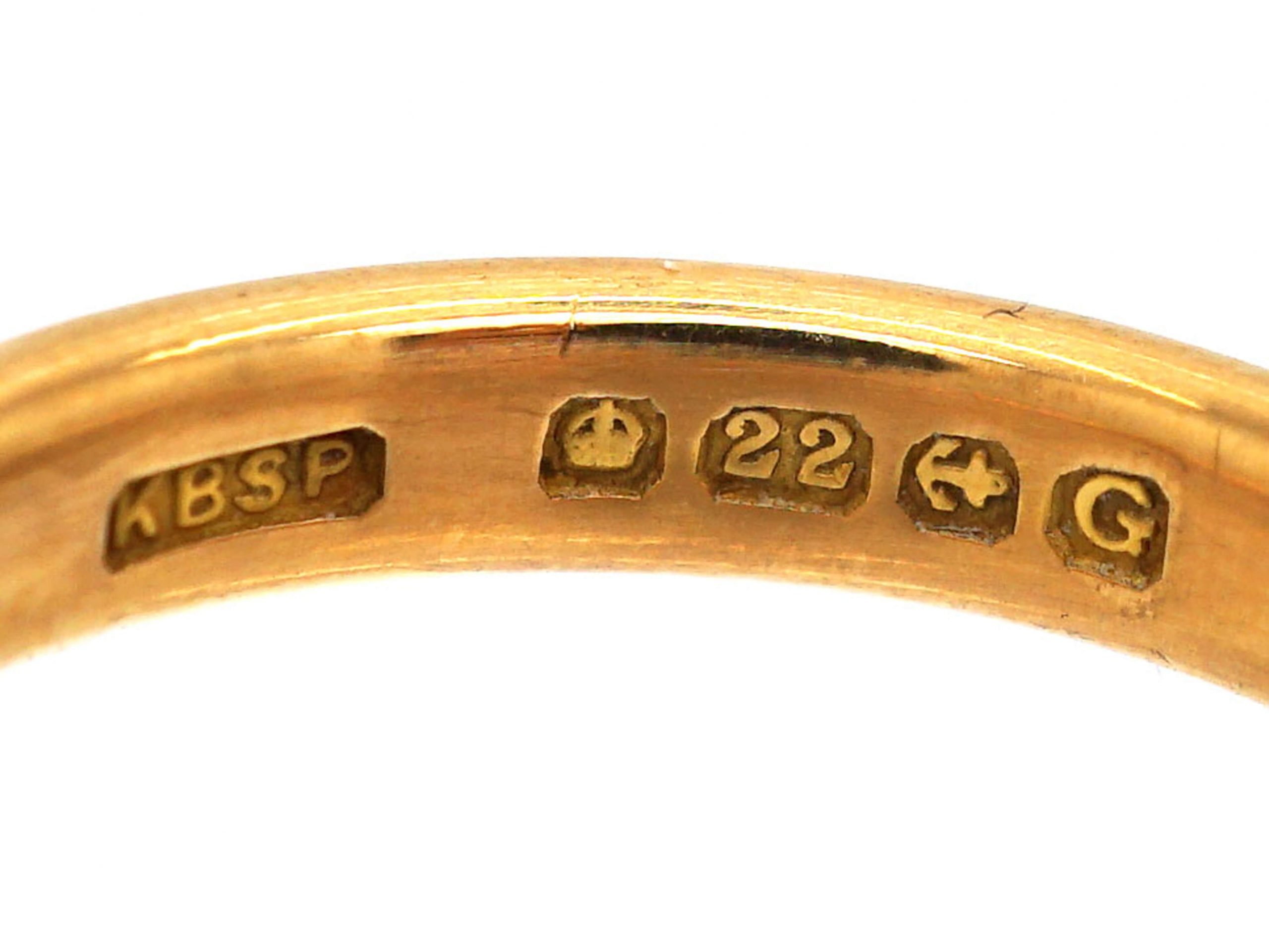22ct Gold Wedding Ring Assayed in 1931