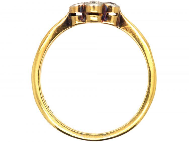Edwardian 18ct Gold & Platinum, Diamond Four Stone Ring