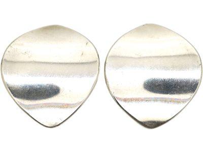 Silver Earrings by Georg Jensen Designed by Nanna Ditzel