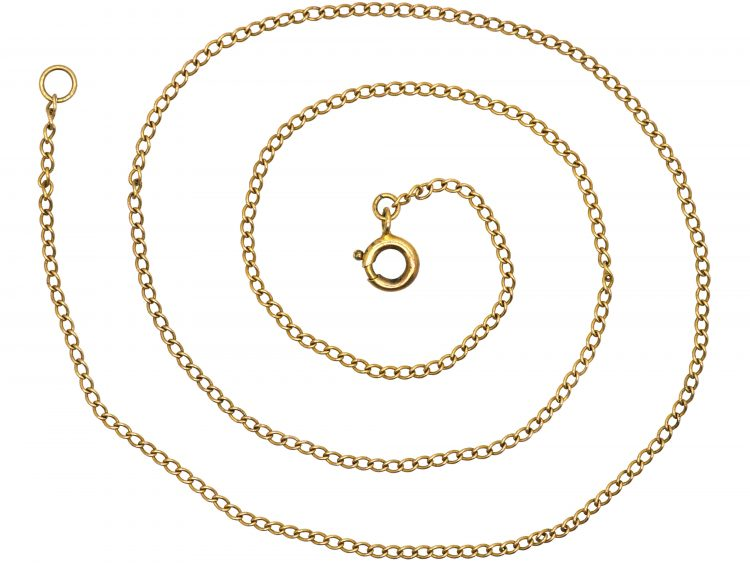 Edwardian 9ct Gold Narrow Trace Link Chain