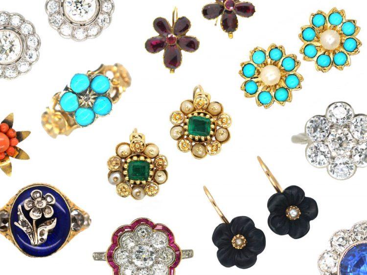Flower Earrings and Rings