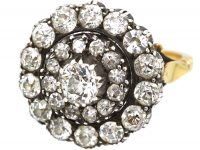 18ct Gold, Large Diamond Cluster Ring