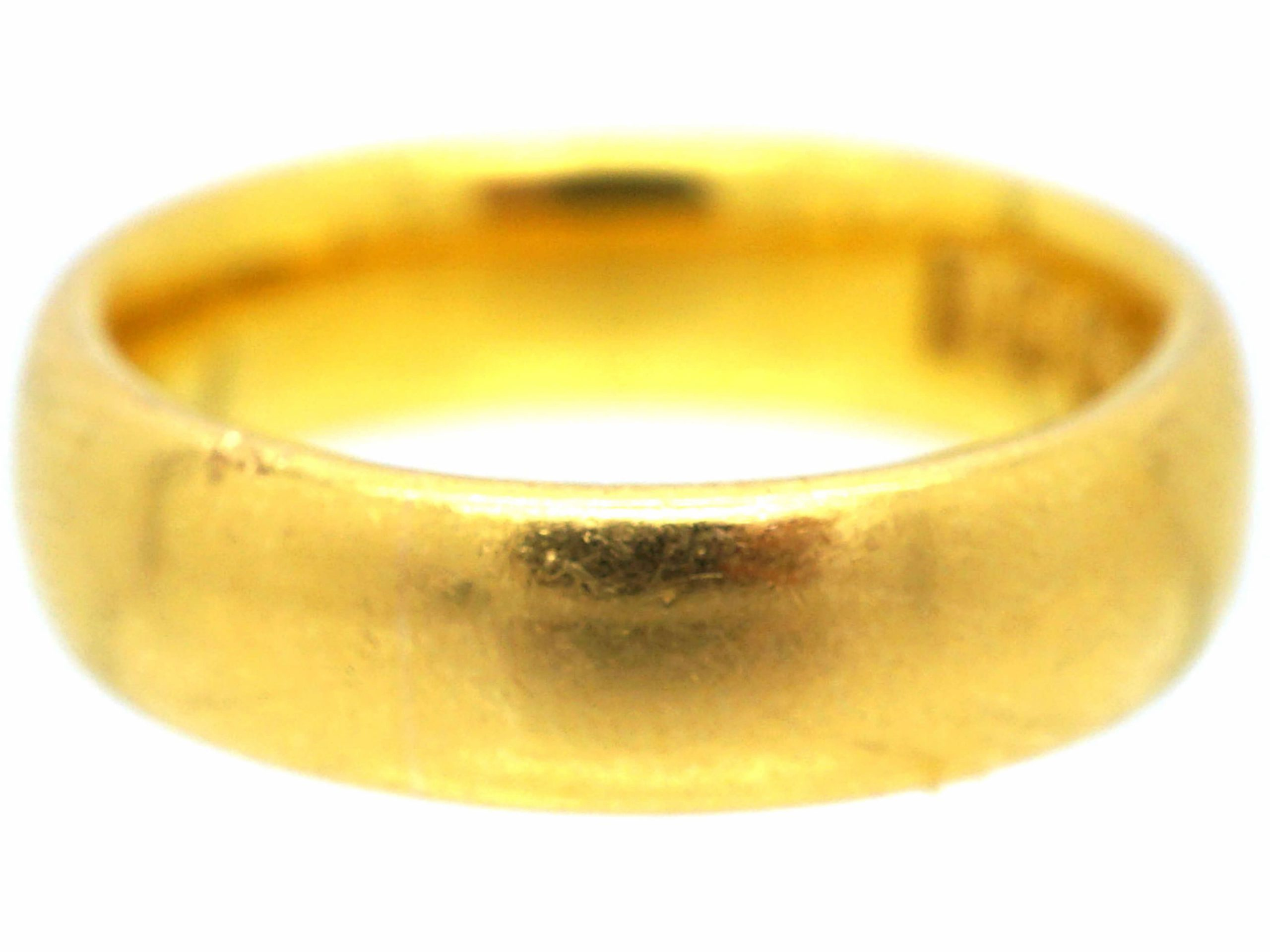22ct Gold Wedding Ring Assayed in 1918