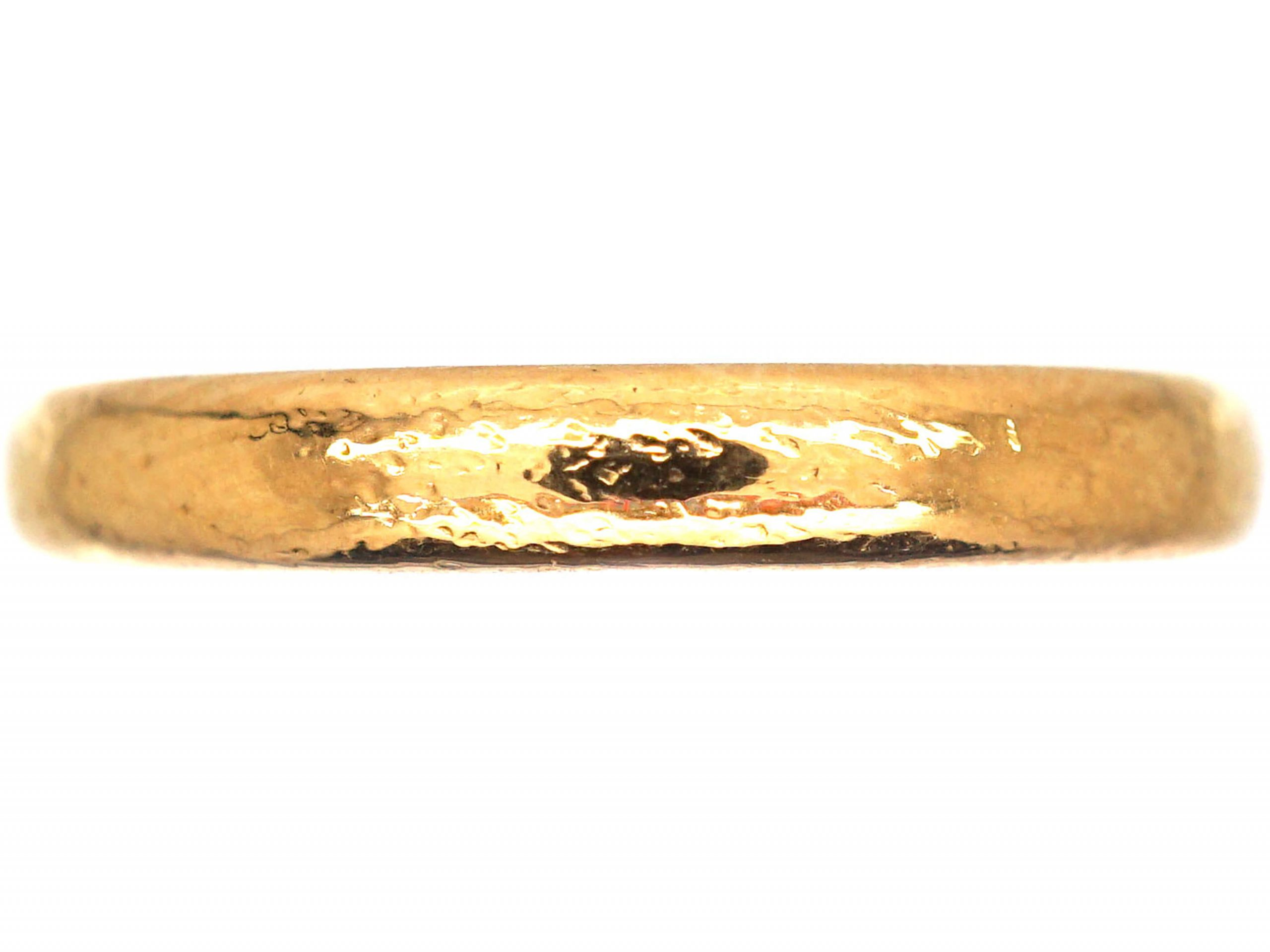 22ct Gold Wedding Band Assayed in 1941
