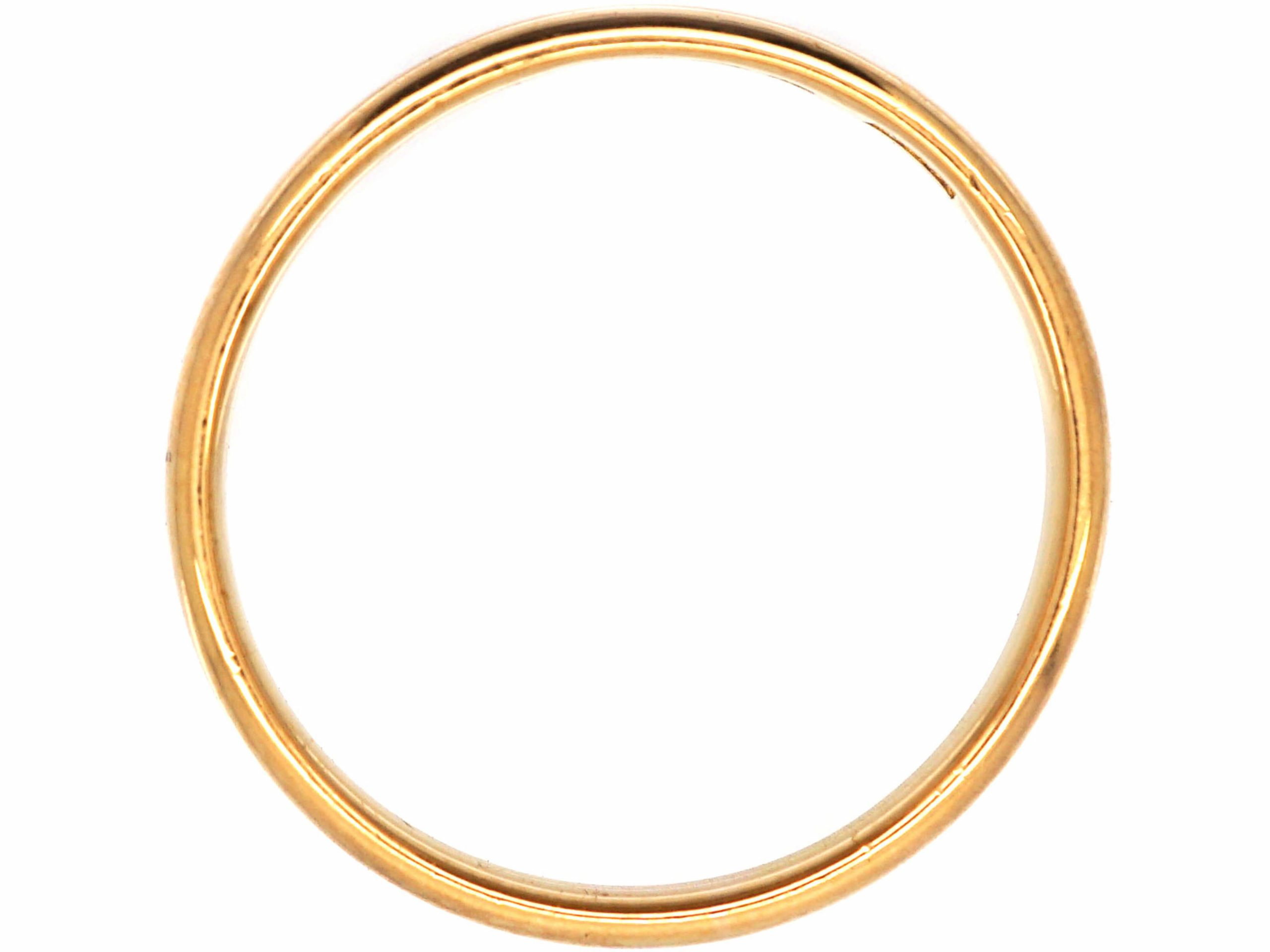 22ct Gold Wedding Band Assayed in 1938