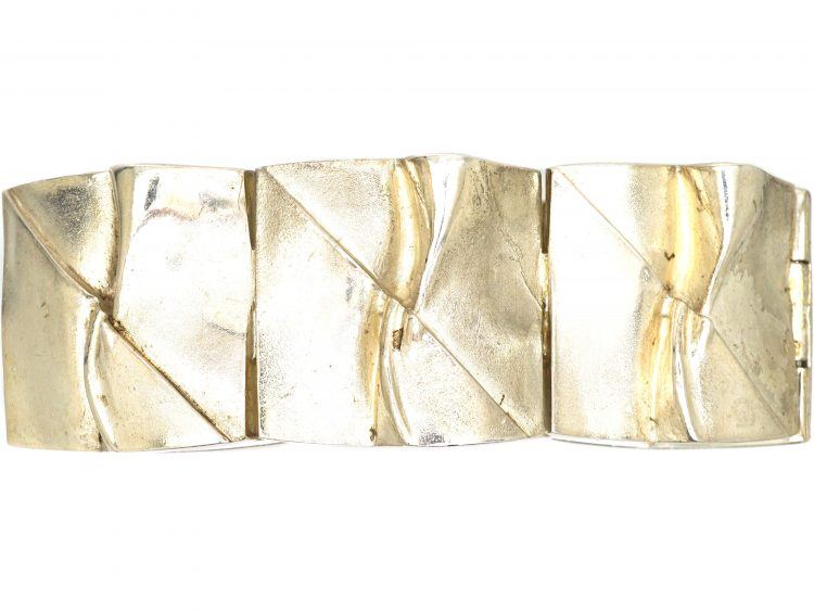 Silver Wide Bracelet by Bjorn Weckstrom for Lapponia
