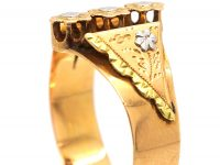French Belle Epoch 18ct Gold, Three Colour Gold Flower Ring
