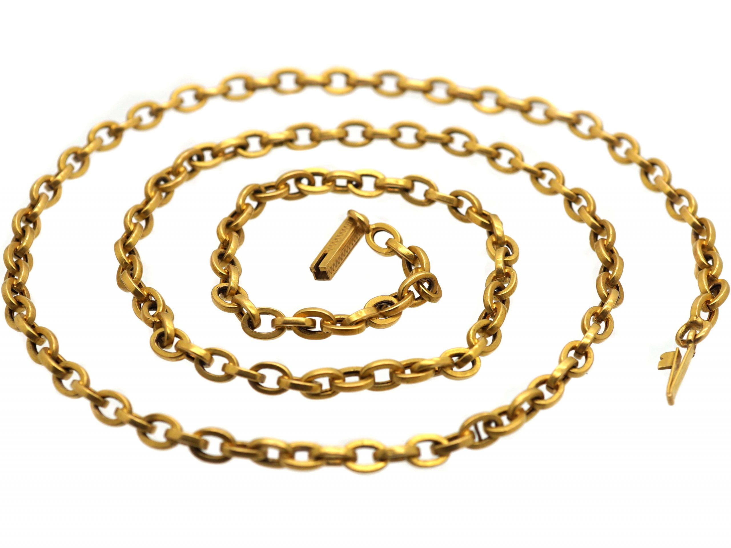 French Belle Epoch 18ct Gold Chain