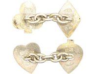 Victorian Silver Playing Card Cufflinks