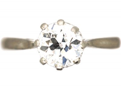 18ct White Gold & Platinum, Diamond Solitaire Ring