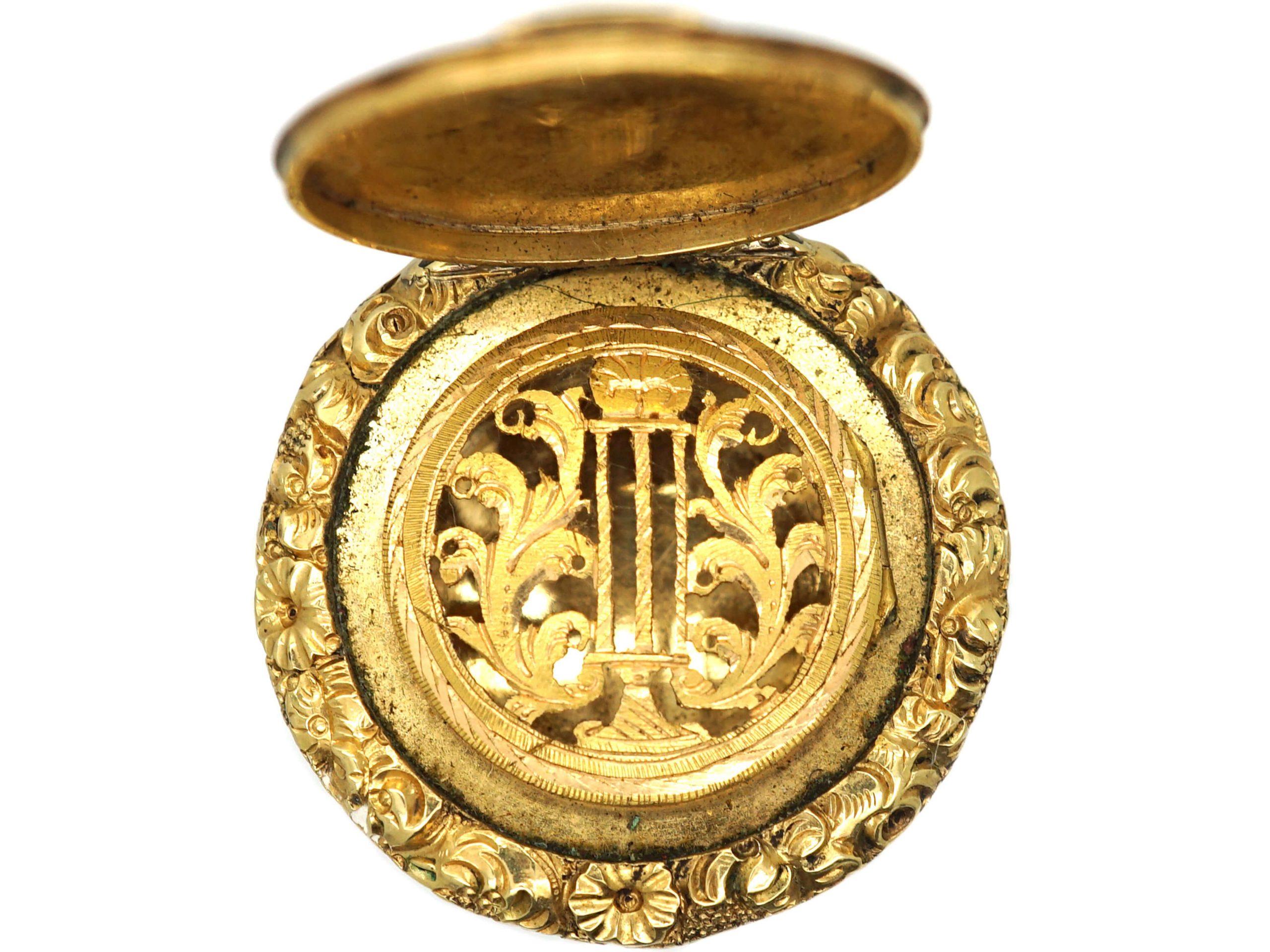 Georgian 15ct Gold Vinaigrette Locket