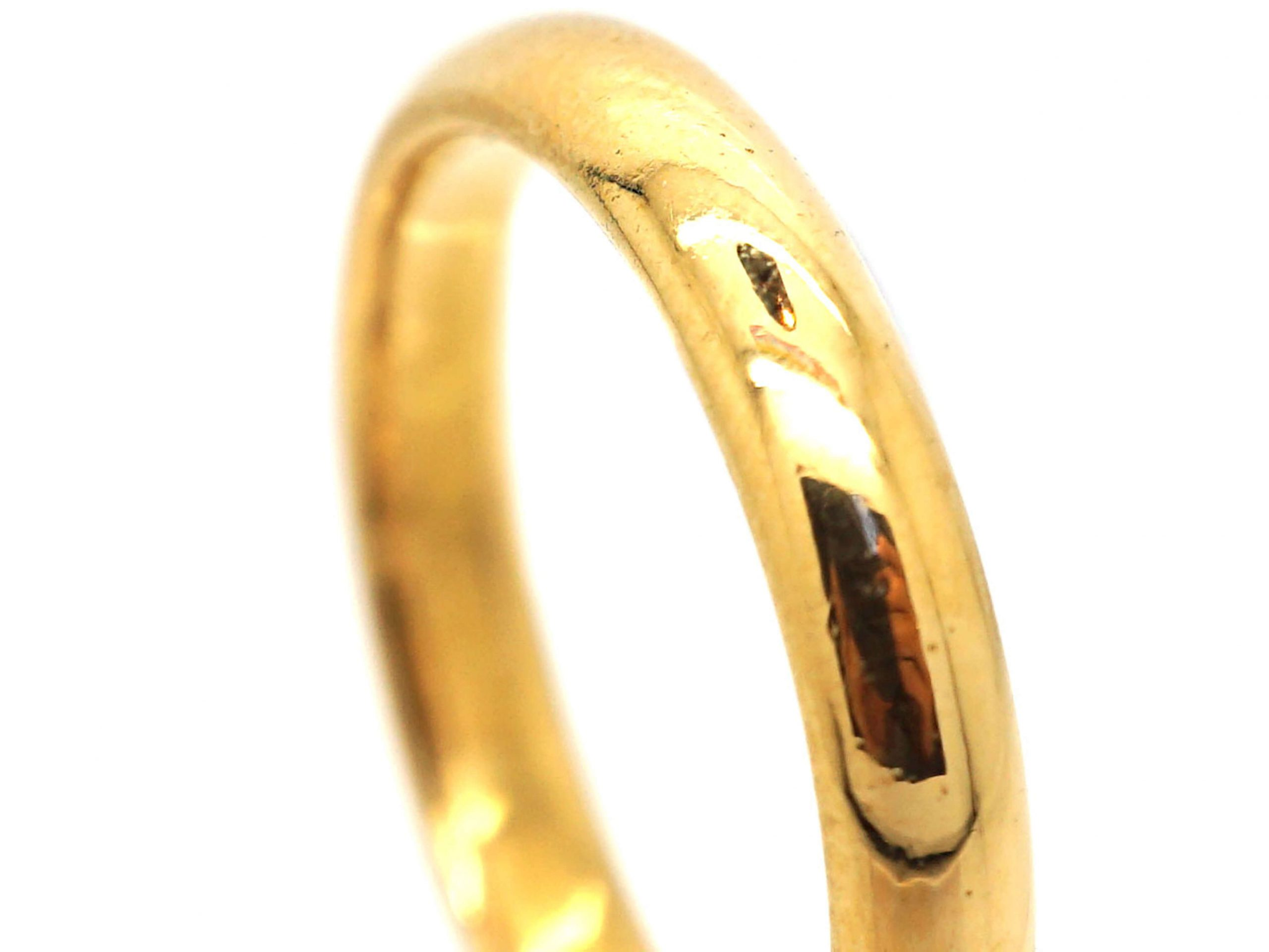 22ct Gold Wedding Ring Assayed in 1939