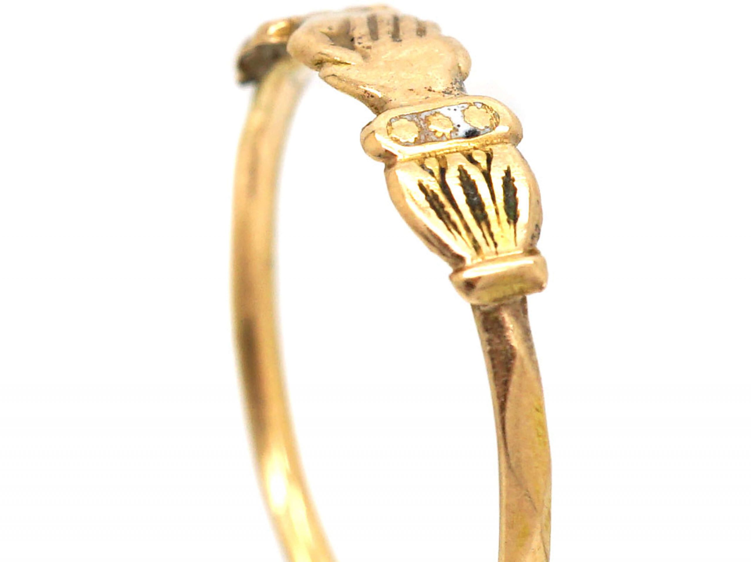 French Early 19th Century 18ct Gold Fede Ring