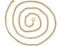 Edwardian 15ct Gold Medium Length Gold Chain with Unusual Links
