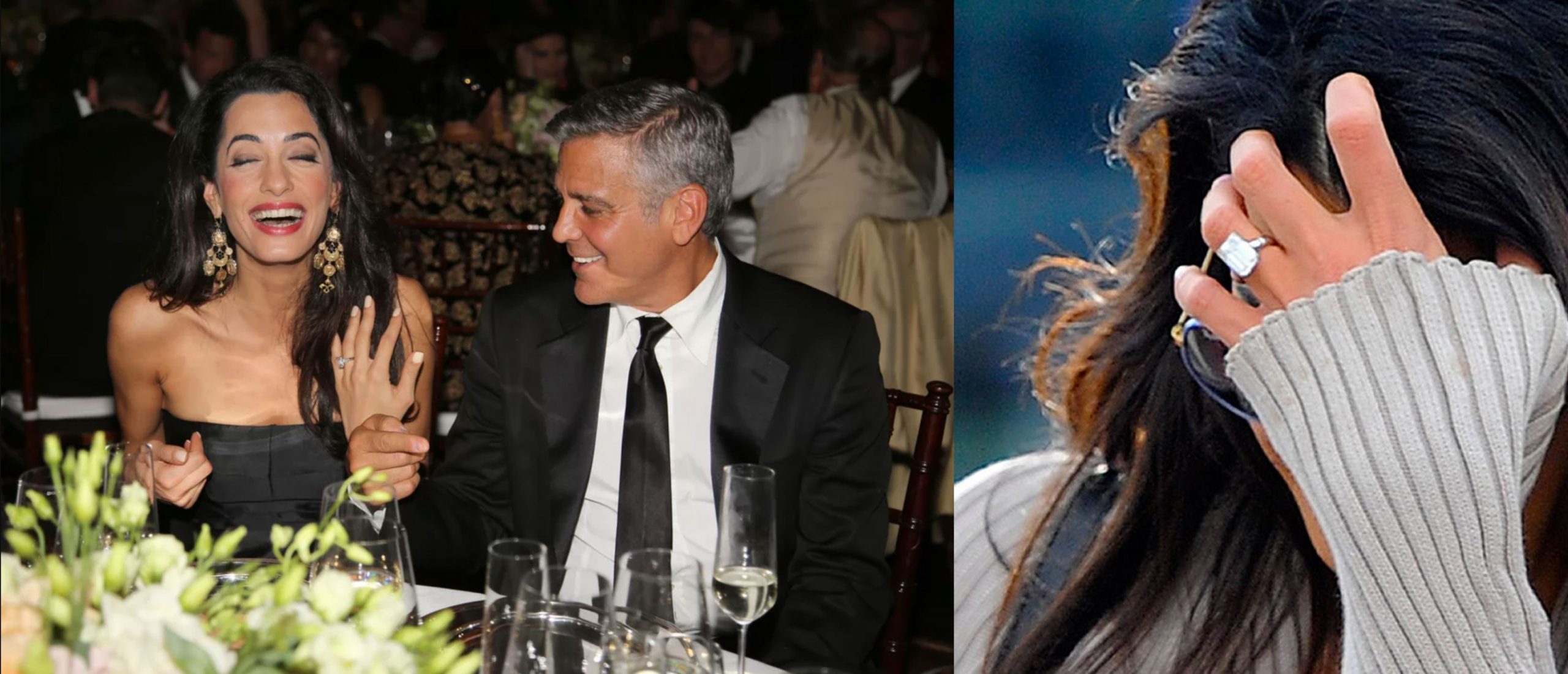 Amal Clooney engagement ring