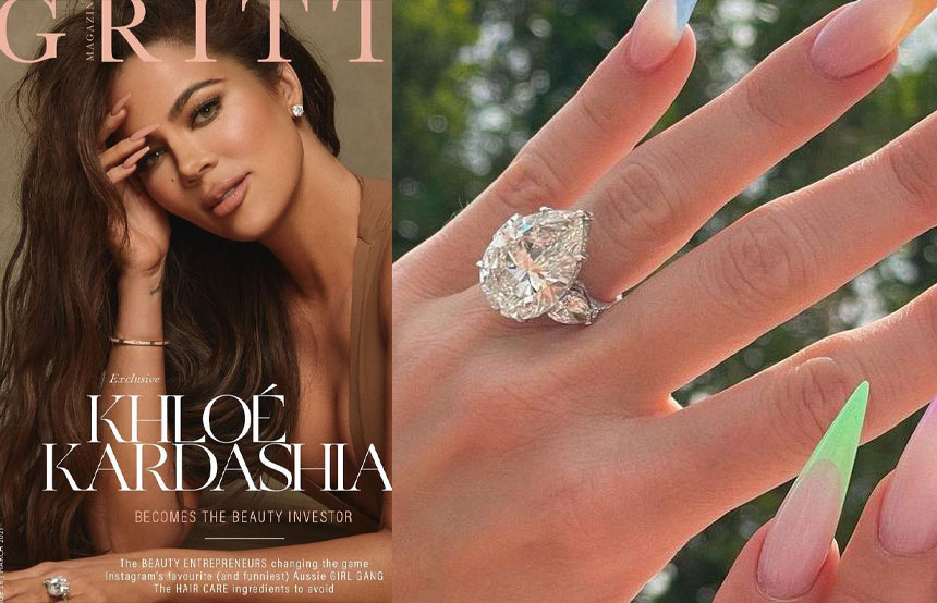 Khloe Kardashian engagement ring