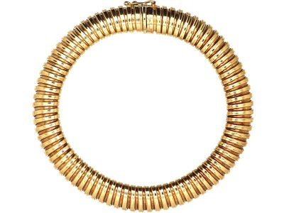 9ct Gold Tubo Gas Bracelet