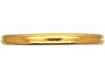 22ct Gold Narrow Wedding Ring by Charles Green & Sons