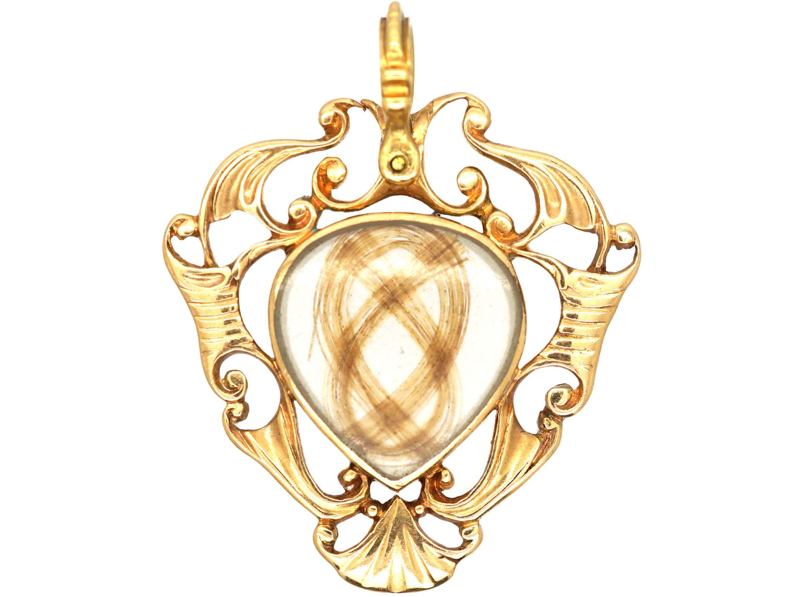 Georgian 18ct Gold Heart Shaped Pendant by Thomas Flach