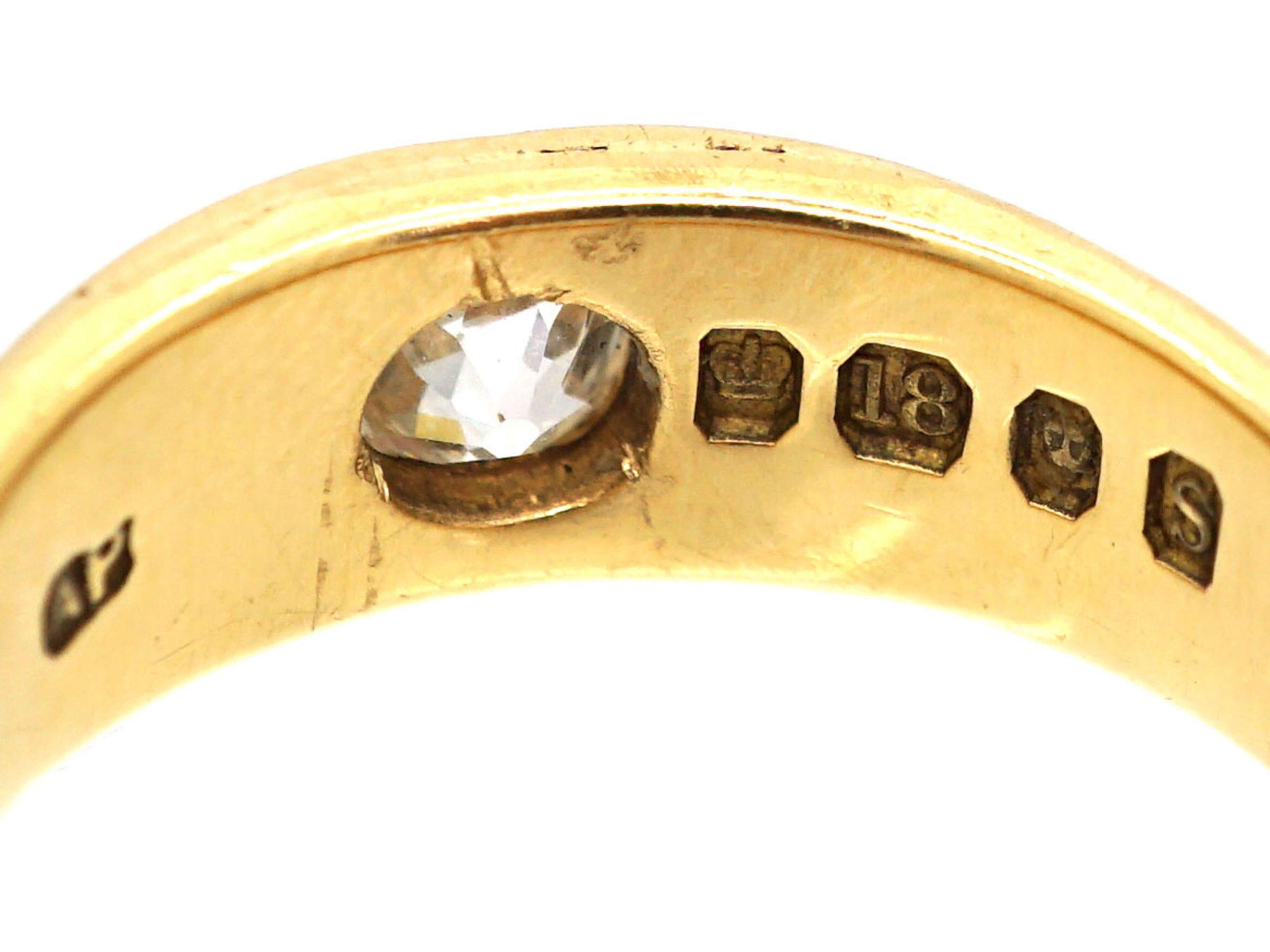 Victorian 18ct Gold & Diamond Gypsy Ring