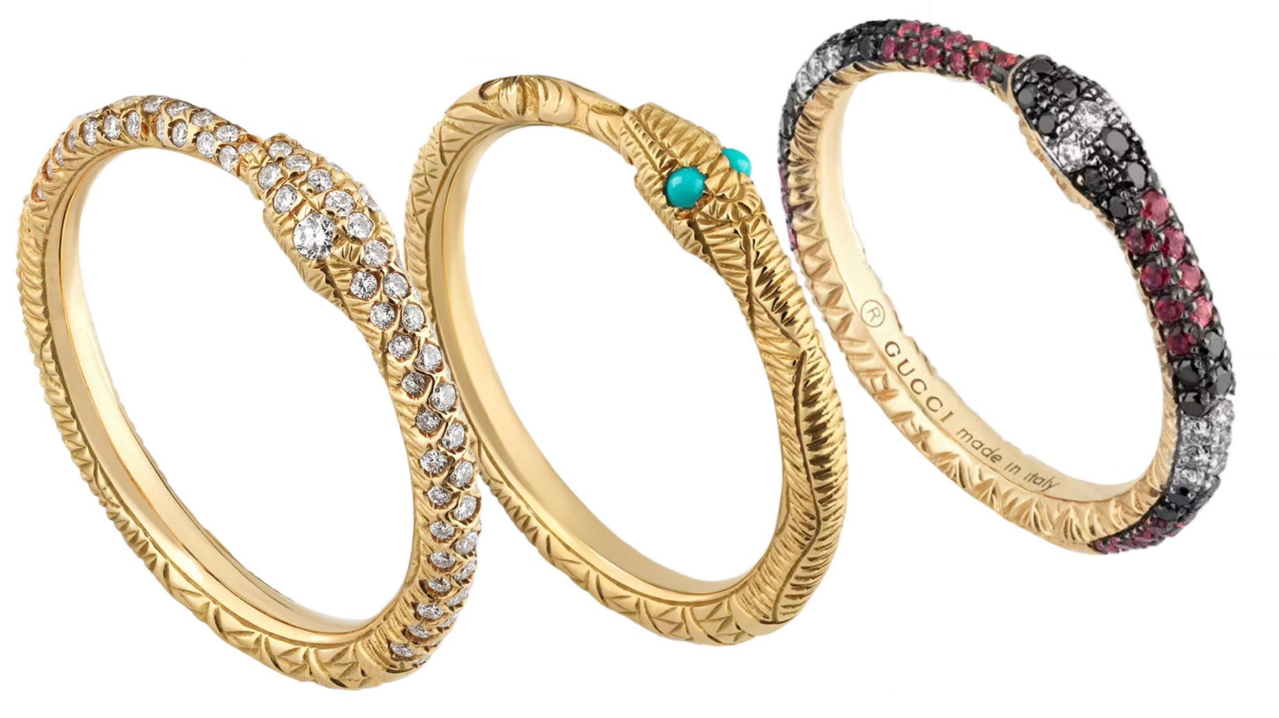 Gucci snake bangles