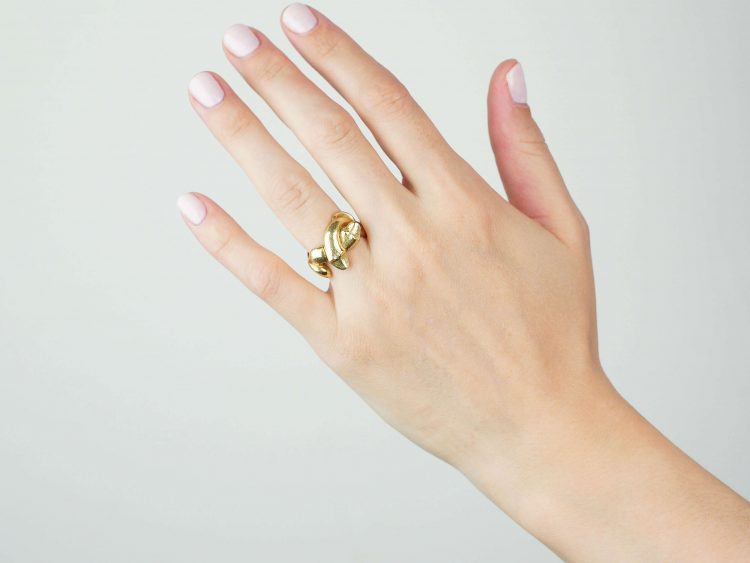 18ct Gold Sculptural Double Snake Ring