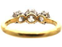 Early 20th Century 18ct Gold Three Stone Diamond Ring