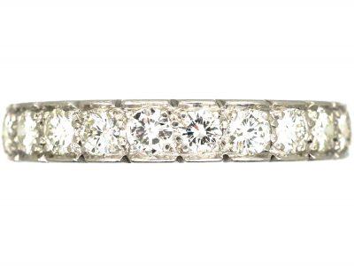 18ct Gold Half Eternity Ring set with Diamonds