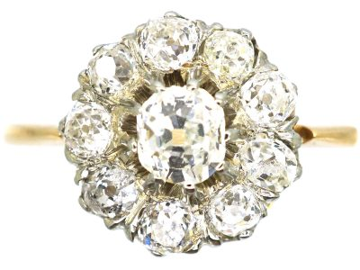 Late Victorian 18ct Gold, Diamond Cluster Ring