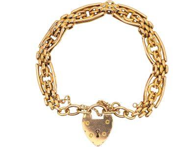 Edwardian 15ct Gold Bracelet with Circle Detail