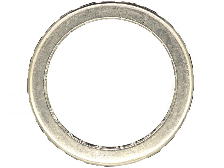 Art Deco French Platinum & Sapphire Eternity Ring