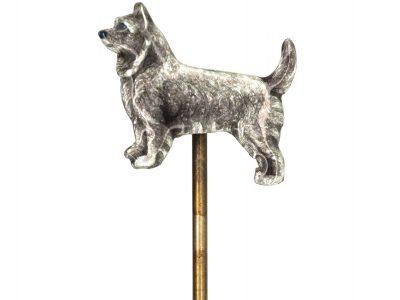 Silver & Enamel Tie Pin of a Terrier
