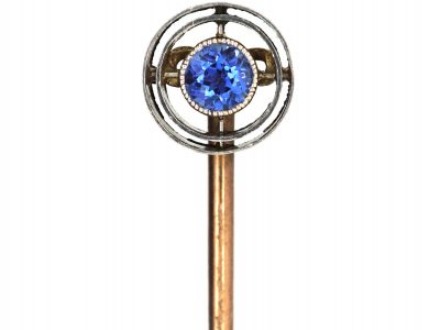 Art Deco Platinum & Sapphire Tie Pin