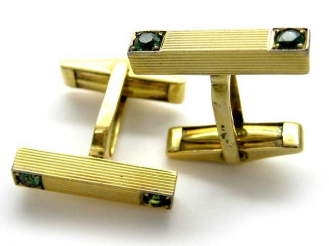 18ct Gold & Tourmaline Cufflinks