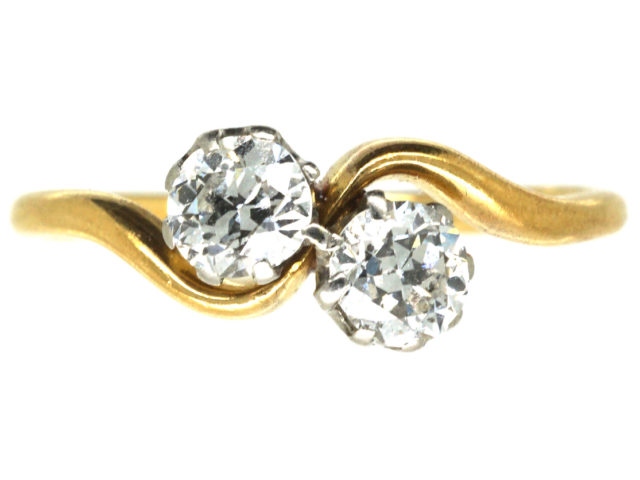 Edwardian 18ct Gold & Diamond Twist Ring