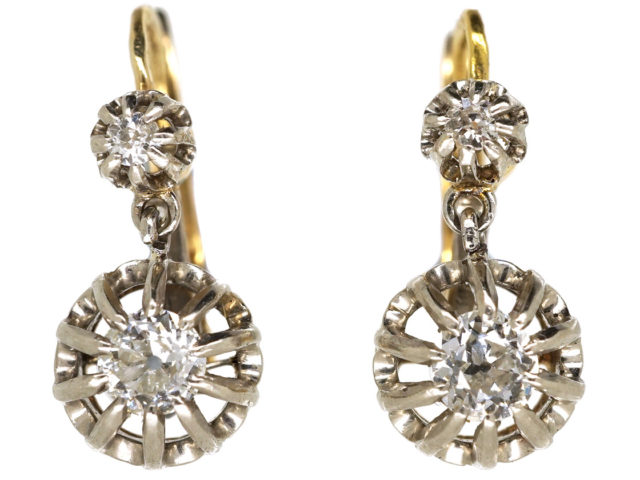 Belle Epoque Diamond Drop Earrings