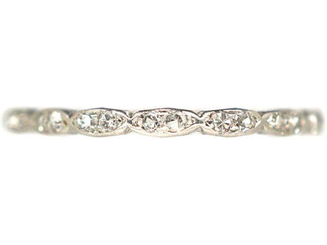 Art Deco Narrow Platinum & Diamond Eternity Ring